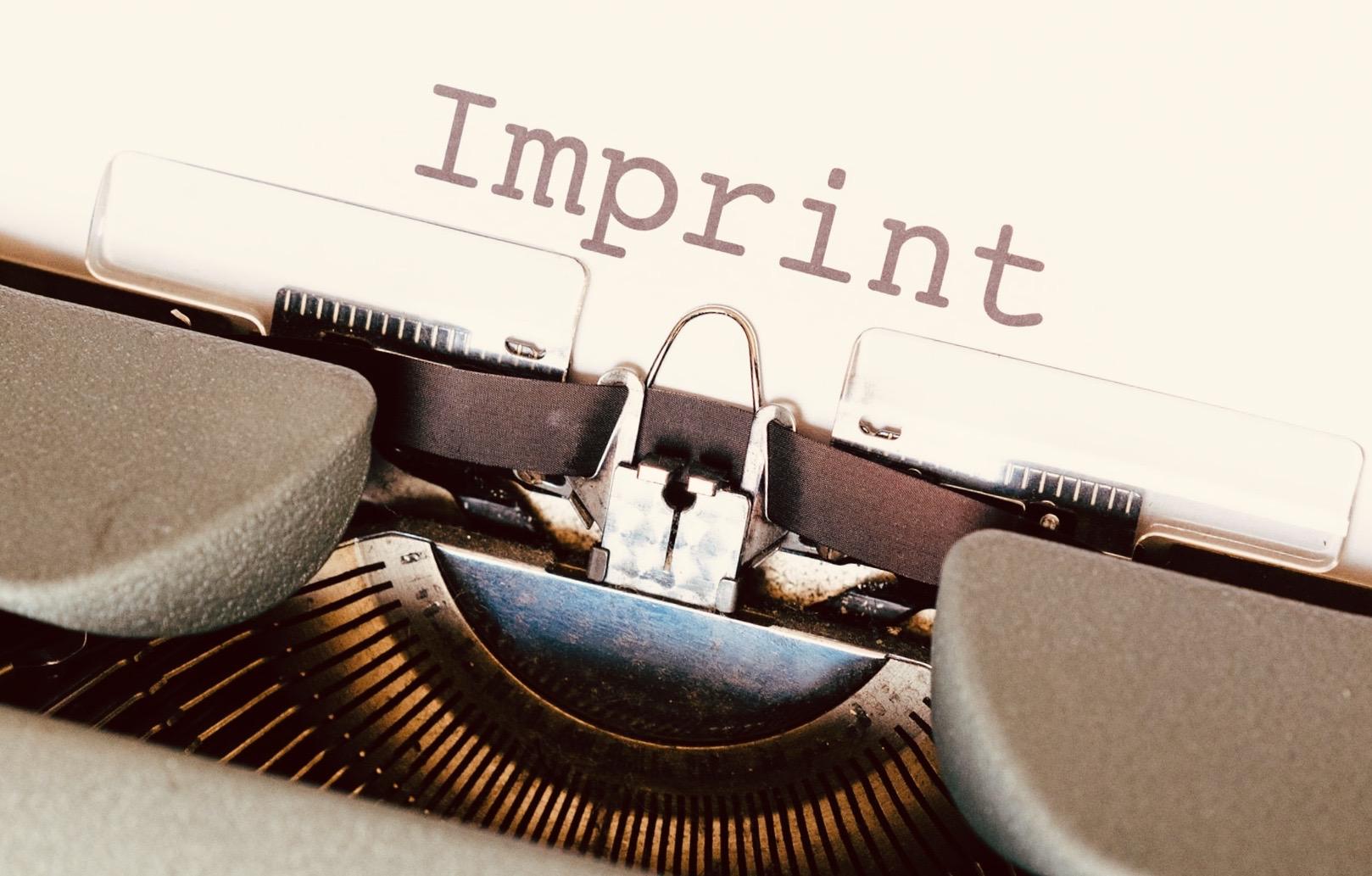 Copyright und Impressum für Autoren