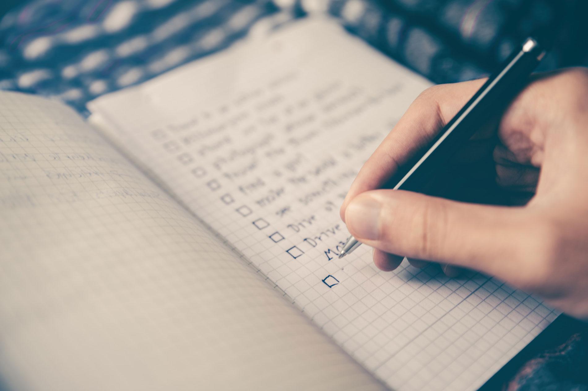 Checkliste Blogpost