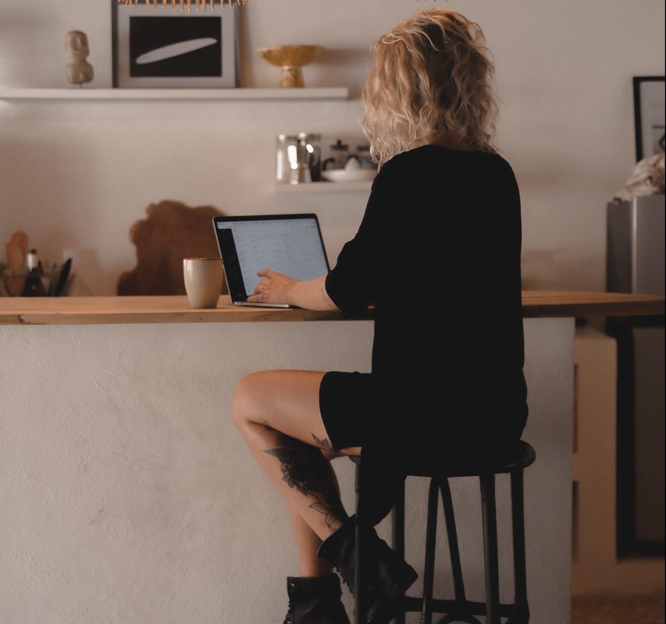 Sandra im Workflow als Texter