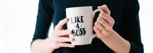 """Tasse """"Like a Boss"""" versus Mindset-Fails von Texter:innen"""